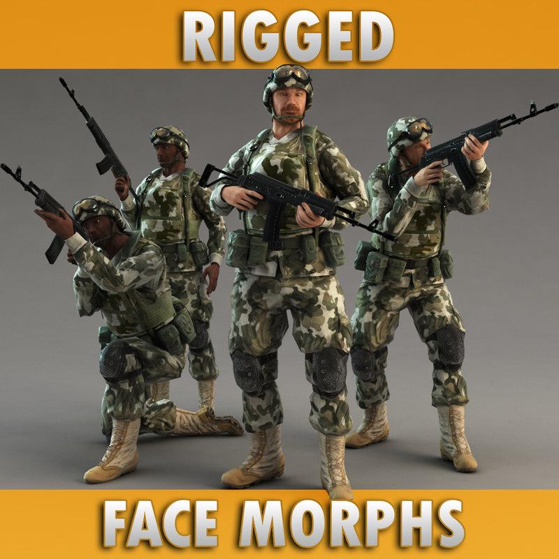 soldier rifle 3d model