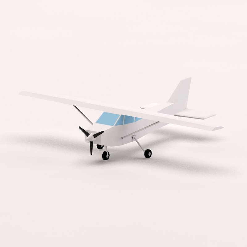 cartoon toon plane 3d 3ds
