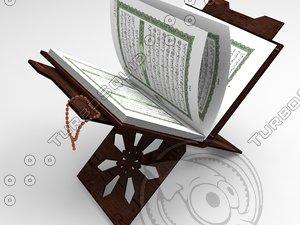 holy quran 3d model