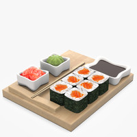 3ds salmon roll