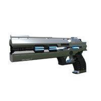 3d science fiction pistol model