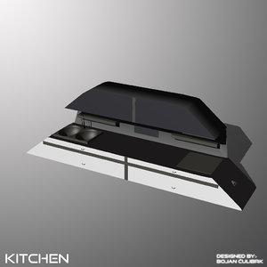 3d obj andromeda kitchen
