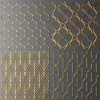 3d model set panel lattice grille