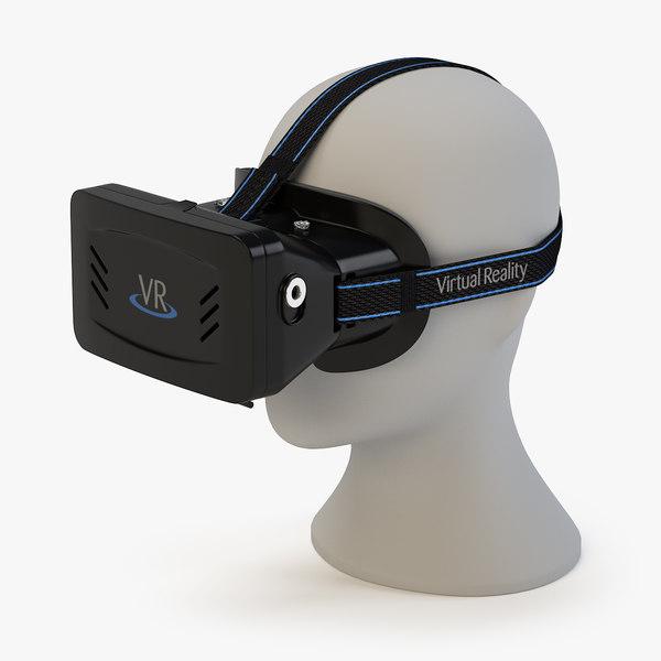 3d model virtual reality headset head