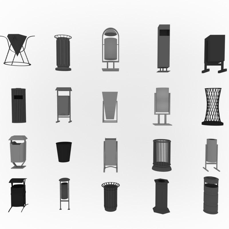 3d model garbage colection
