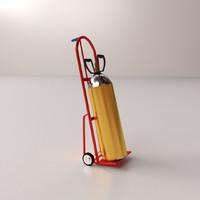 3d 3ds gas cylinder handtruck