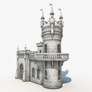medieval knights castle obj