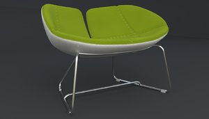 3d model fjord armchair green iray