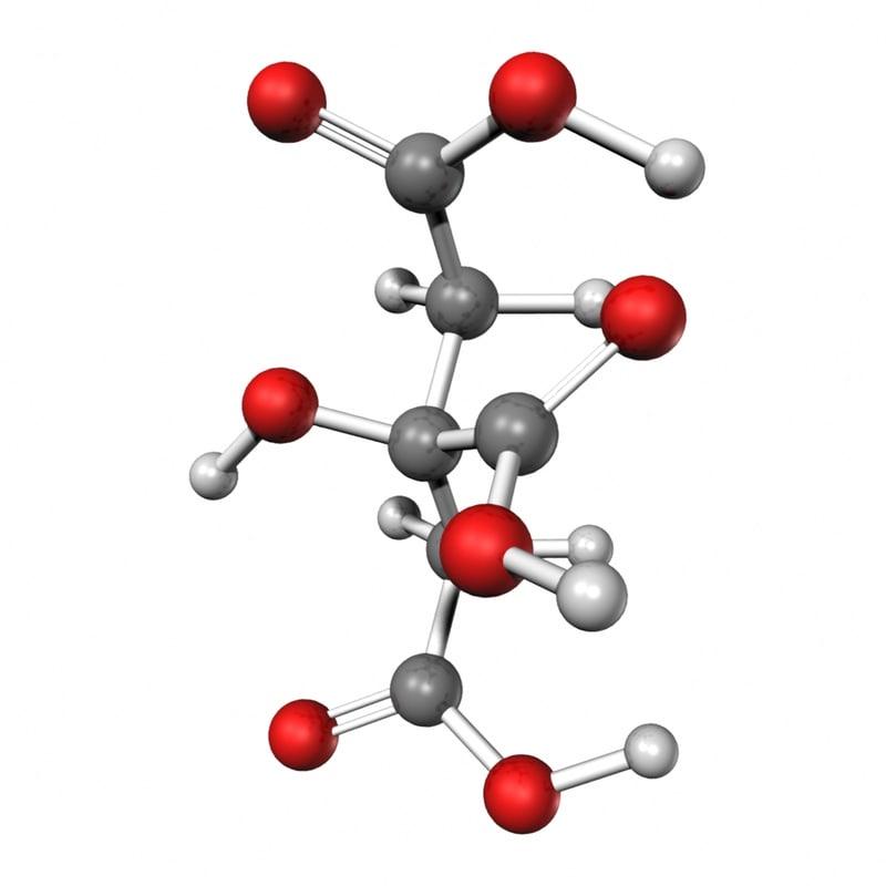 3d model citric acid