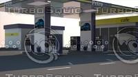 3d max petrol station