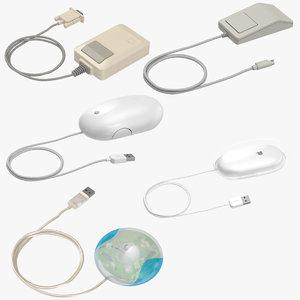 3d obj apple mice mouse
