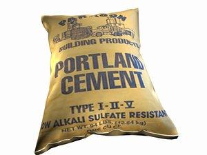 3d model portland cement