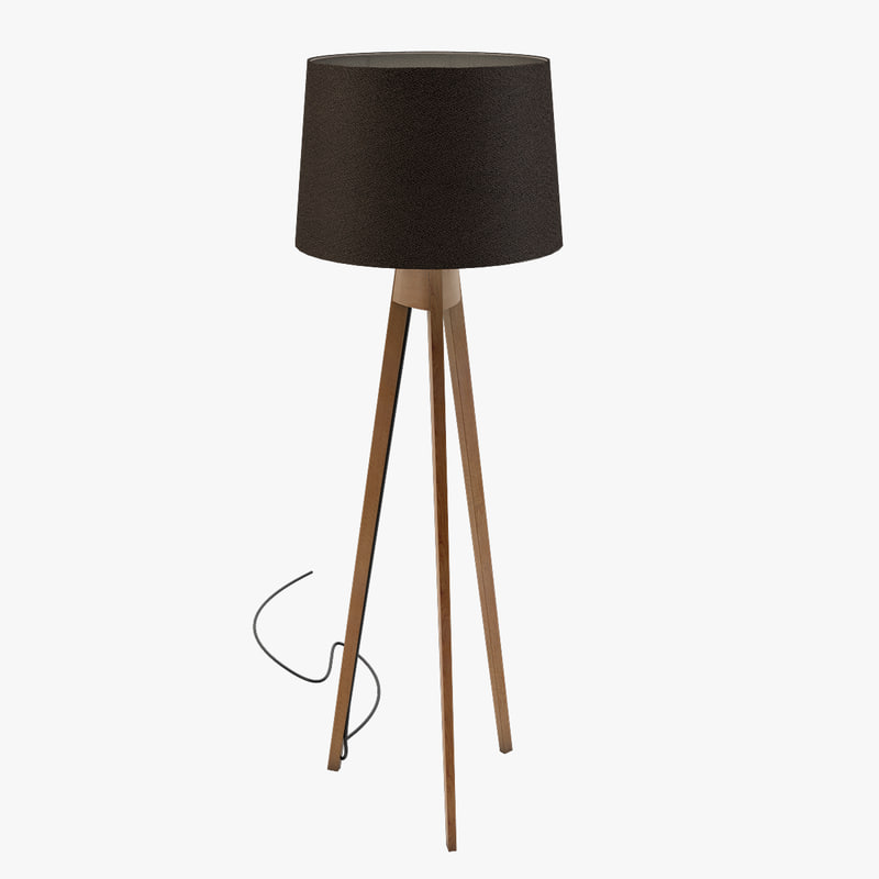 tripod floor lamp light 3d 3ds