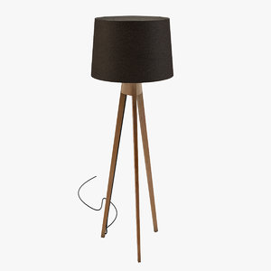 tripod floor lamp light 3d 3ds