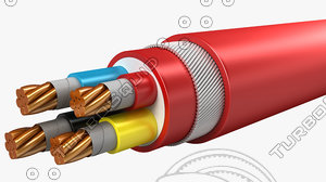 electrical cables lshf insulated 3d model