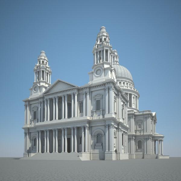 3d london saint paul cathedral model