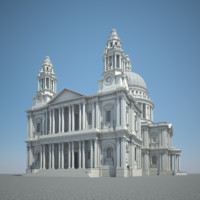 london saint paul cathedral 3d model