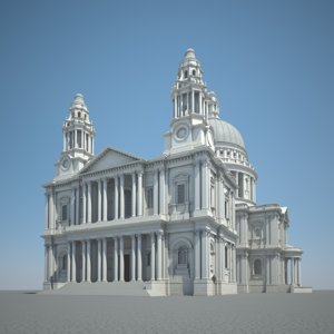 3d london saint paul cathedral model