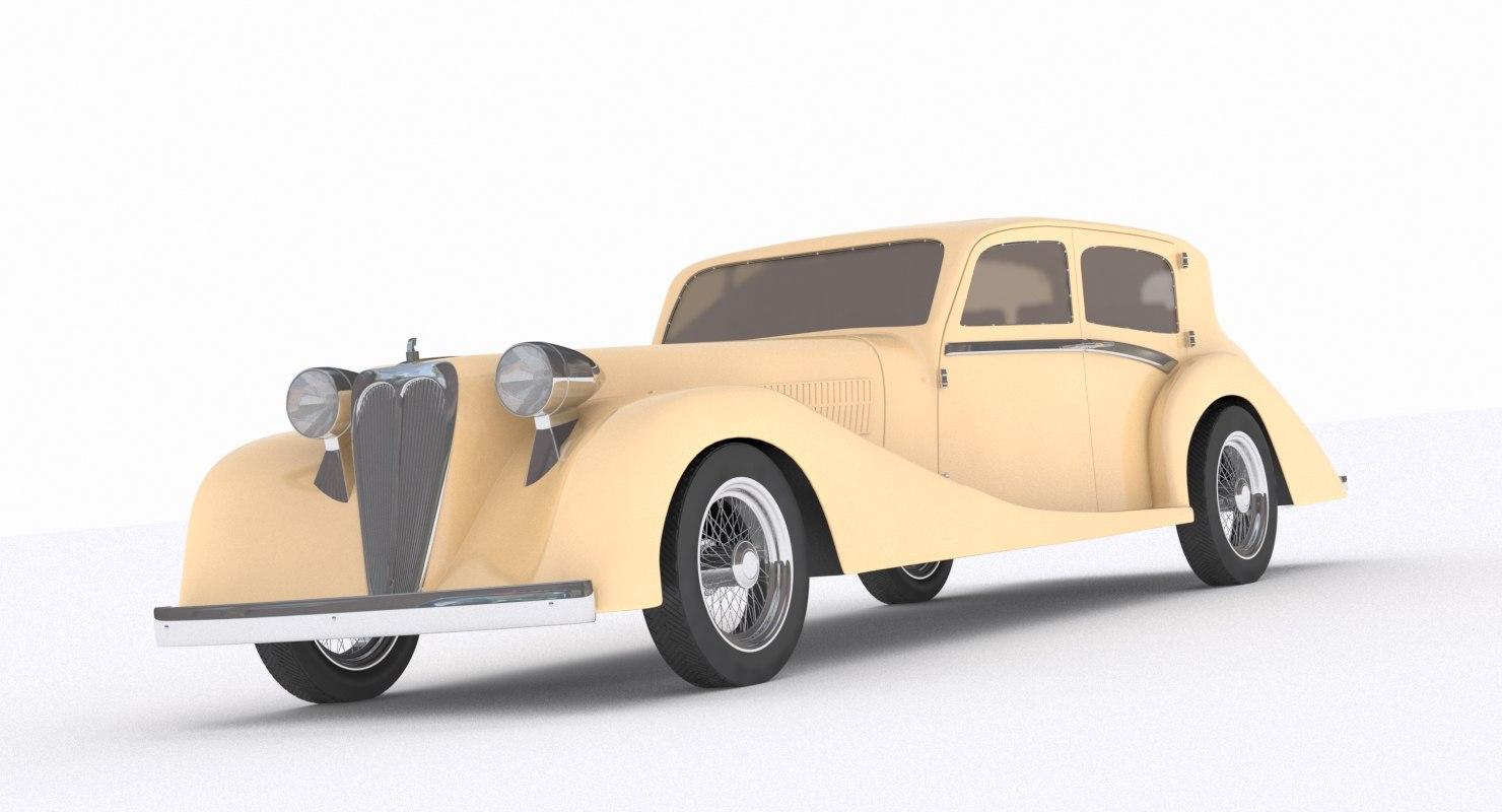 3d generic 1930 s car