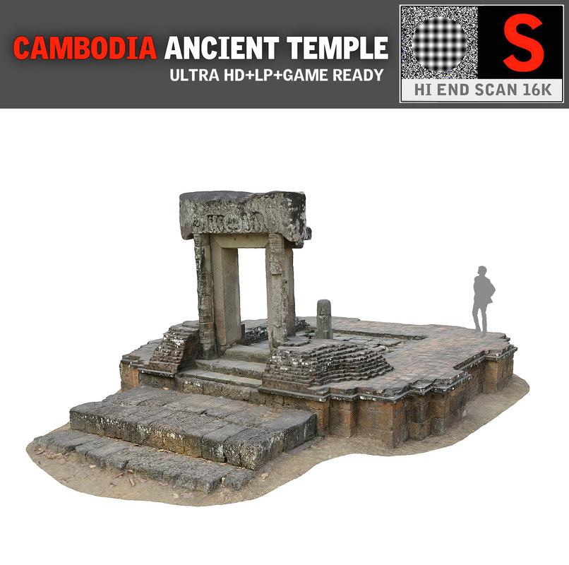 3d obj angkor thom temple 16k
