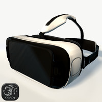 Gear VR headset low poly