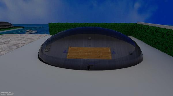 3d model bubble - sports hall