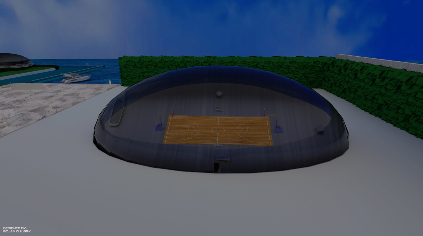 3d model bubble - sports hall