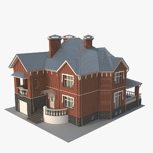 cottage 3d obj