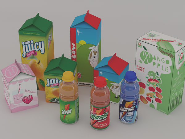juice drinks 3d model