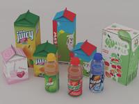 juice drinks 3d model