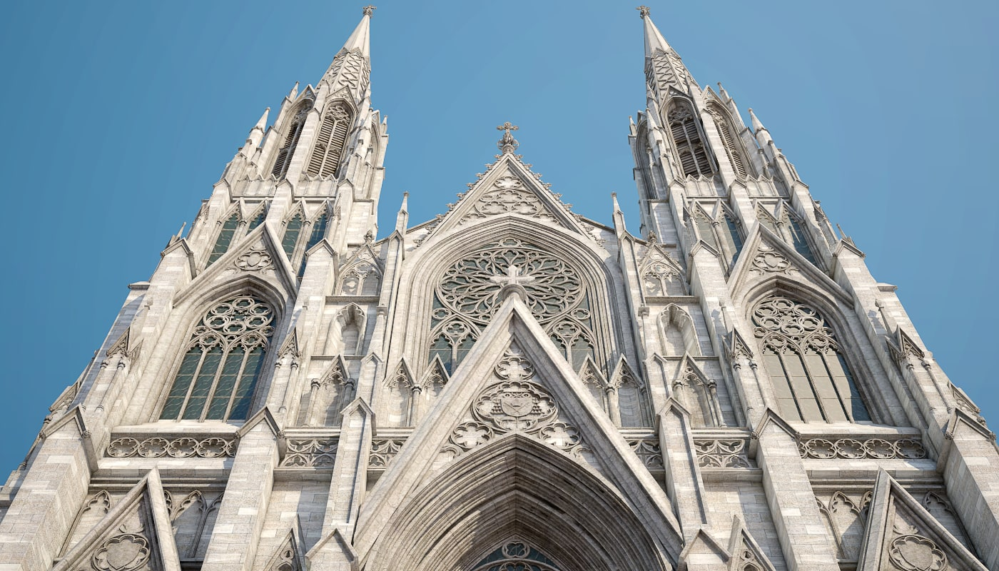 3d realistic st patrick s cathedral