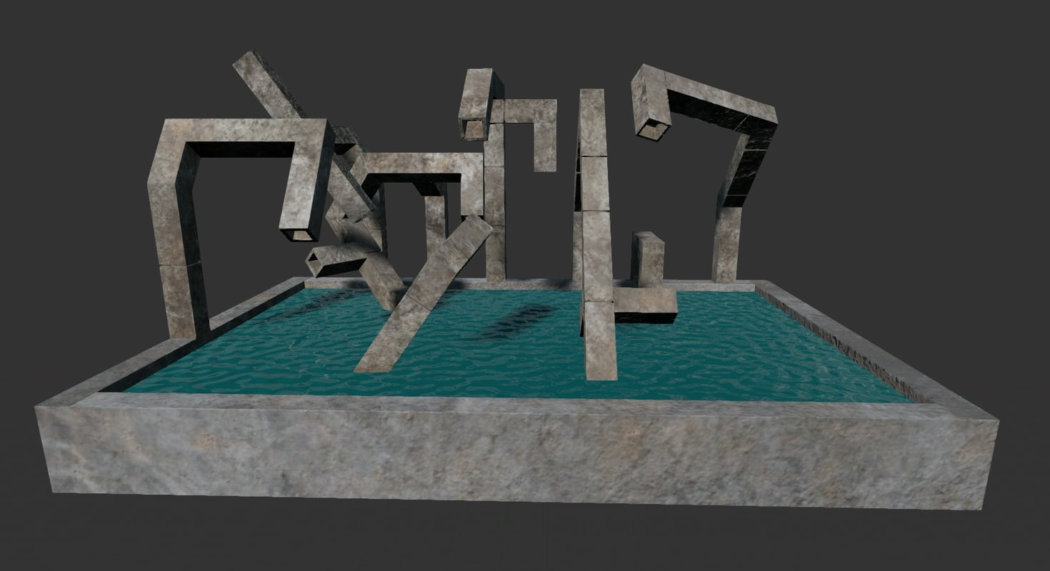 3d model ready fountain