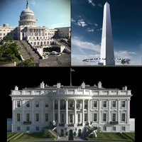 washington white house 3d max