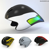 3d time trial helmet model