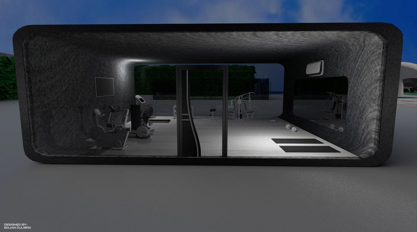 3d model andromeda gym