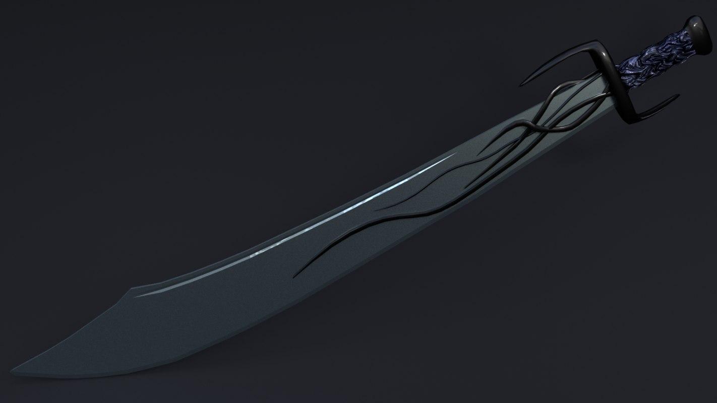 3d model of sword