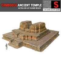 3d angkor temple 24k cambodia model