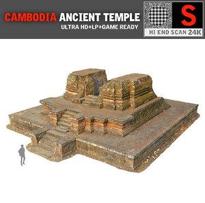 3d angkor temple 24k cambodia model
