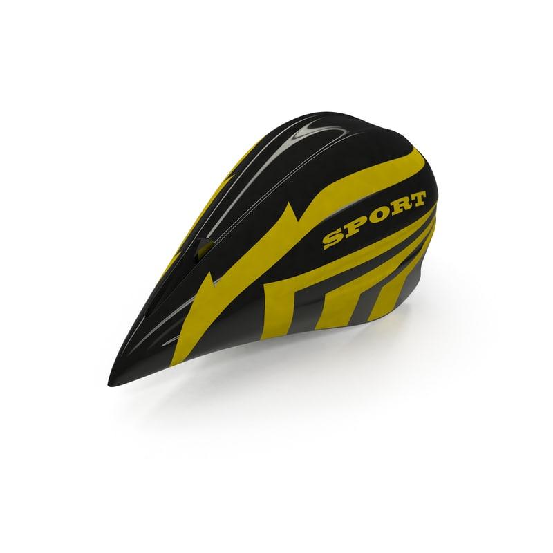 3d time trial helmet model