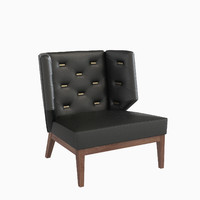 3d armchair upholstery berchet interior model