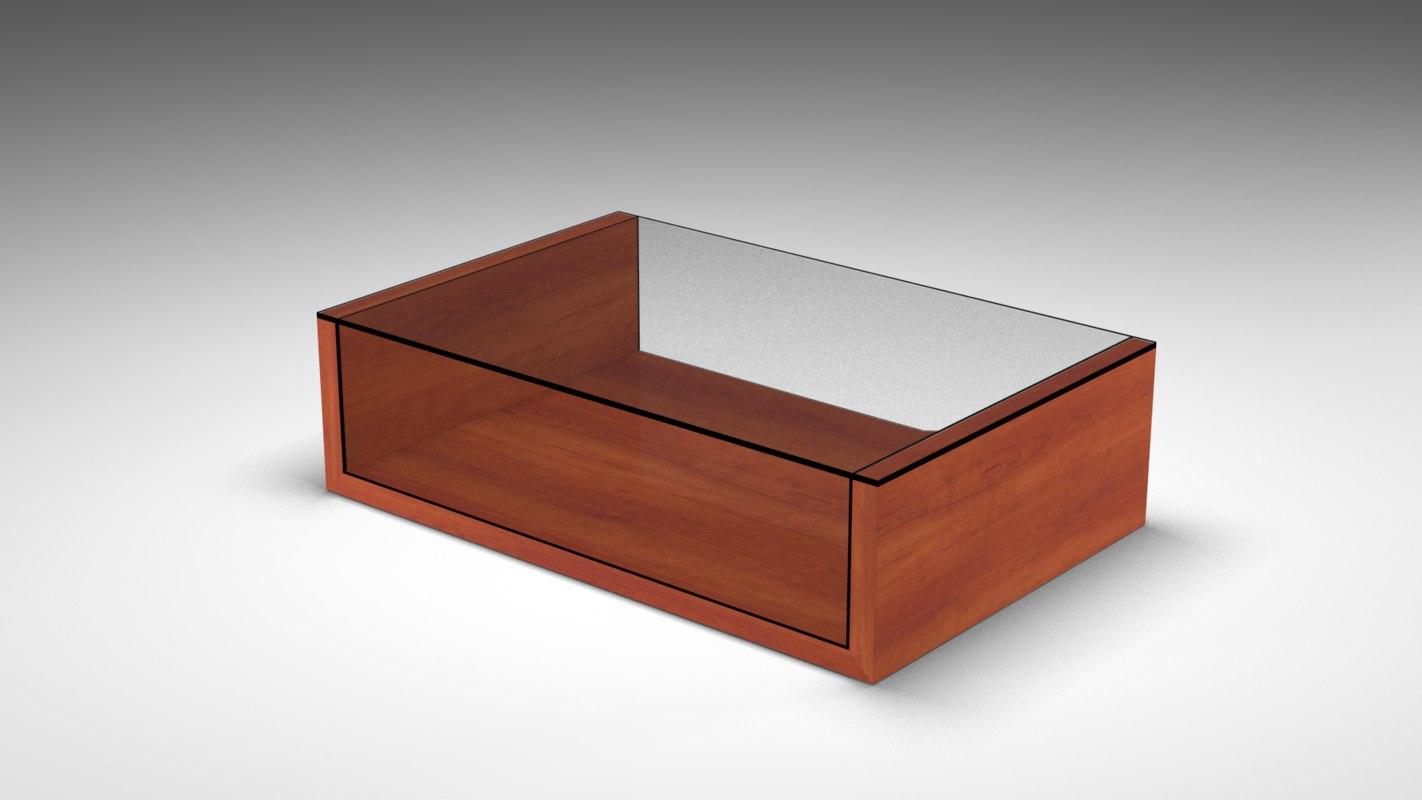 rectangle coffee table obj
