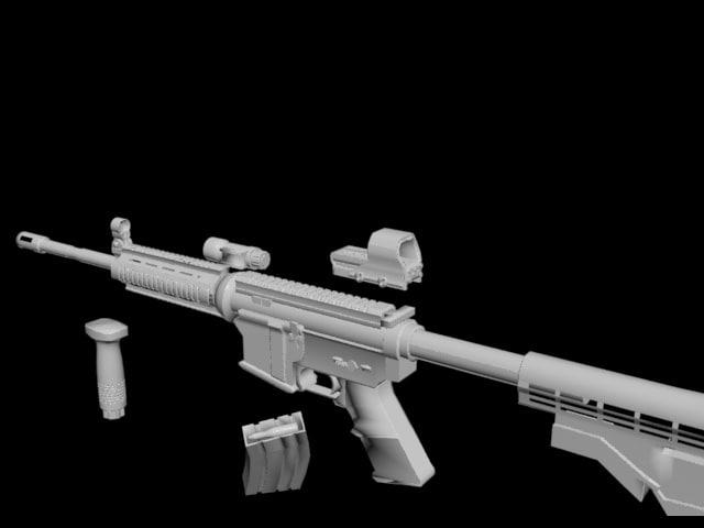 3d model m4a1 rifle -