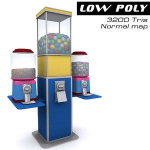3d candy machine model