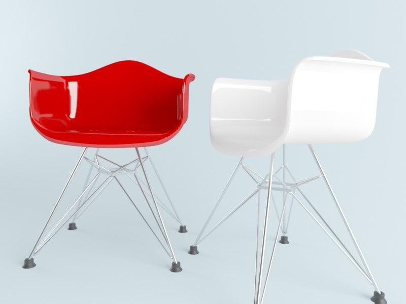 3d eames chair