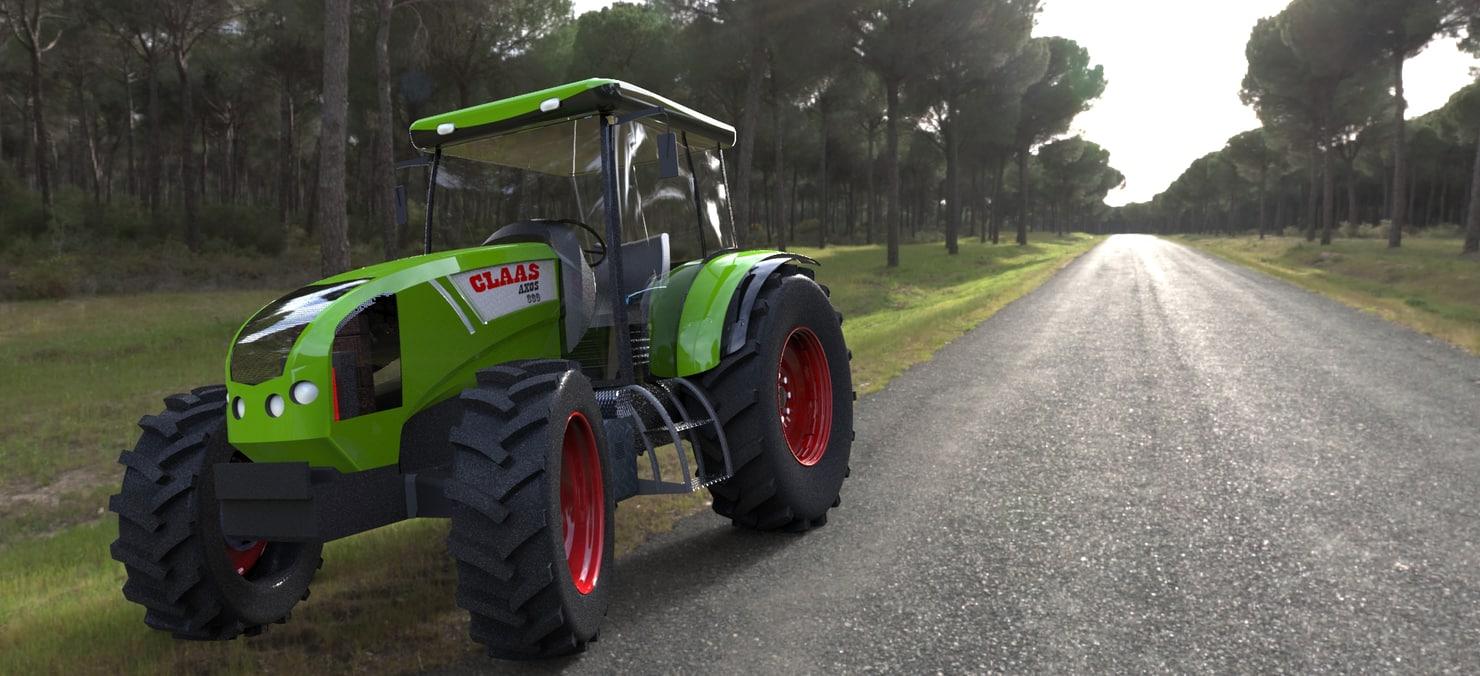 3d model claas axos 330 tractor