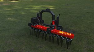 hydraulic rotovators shift 3d model