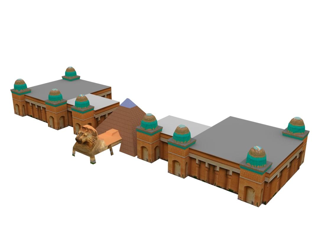 3d sunway pyramid model