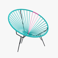 3d model authentic acapulco chair