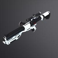 3d model pistol blaster