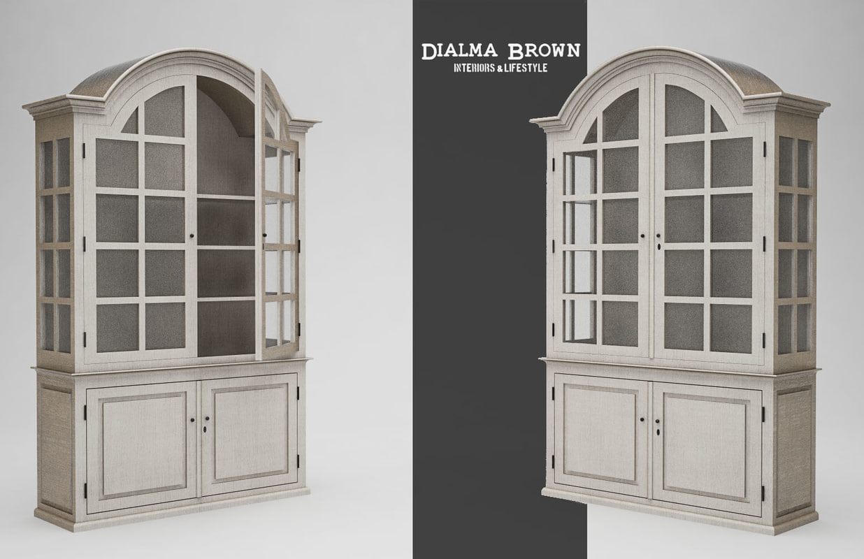 3d model wooden glass cupboard dialma